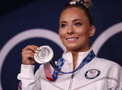 MyKayla Skinner dedicated her Olympic Silver medal to Simone Biles.