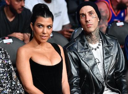 Kourtney Kardashian revealed Travis Barker cut off a big chunk of her hair.