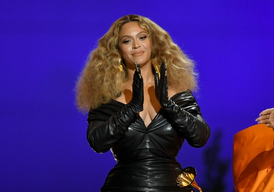 LOS ANGELES, CALIFORNIA - MARCH 14: Beyoncé accepts the Best Rap Song award for 'Savage' onstage dur...