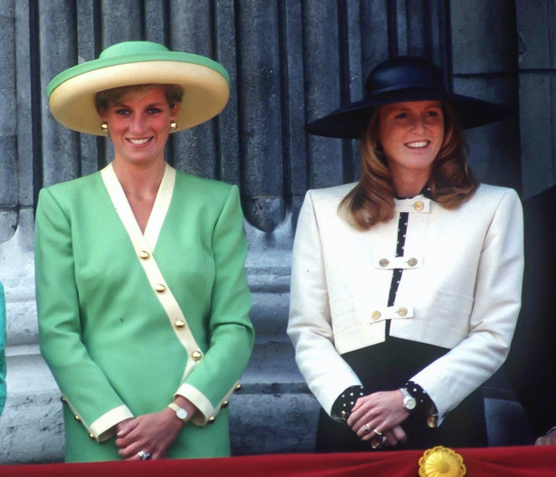 LONDON, UNITED KINGDOM  -  SEPTEMBER 15;   Diana, Princess of Wales ,and Sarah, Duchess of York atte...