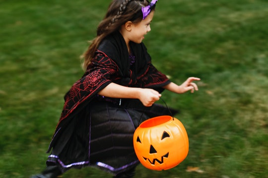 These Halloween buckets and bags are perfect for trick-or-treating.