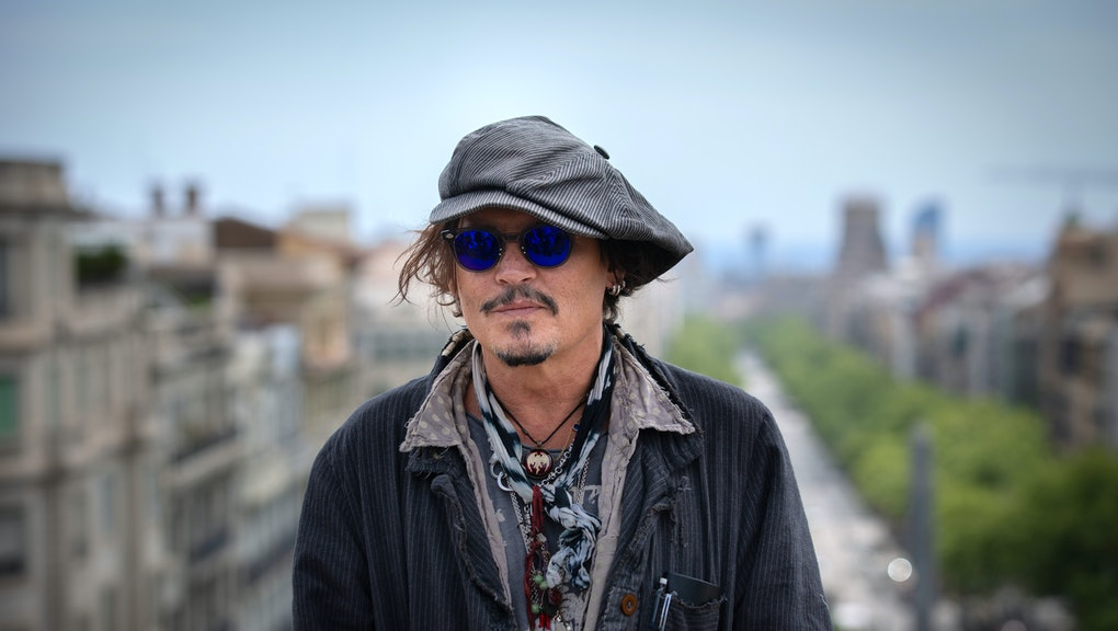 BARCELONA ,SPAIN - APRIL 16: Actor Johnny Depp poses after the press conference to present the film ...