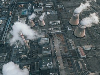 Drone Point View of Power Station
