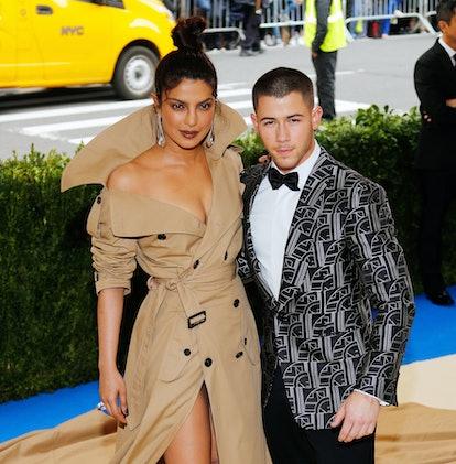 Future spouses Priyanka Chopra and Nick Jonas attend the 2017 Met Gala.