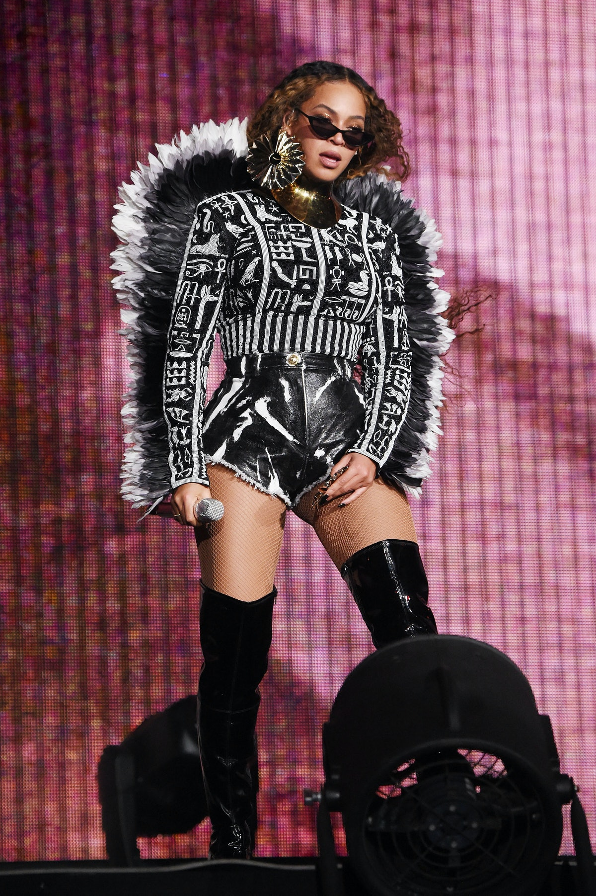 Beyonce performs during the Global Citizen Festival: Mandela 100 at FNB Stadium on December 2, 2018 ...