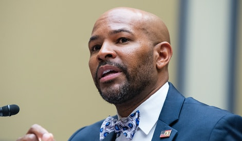 UNITED STATES - JULY 1: Dr. Jerome Adams, former surgeon general, testifies during the Select Subcom...