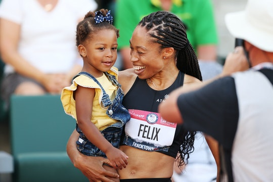 Allyson Felix had a lovely reunion with her daughter.
