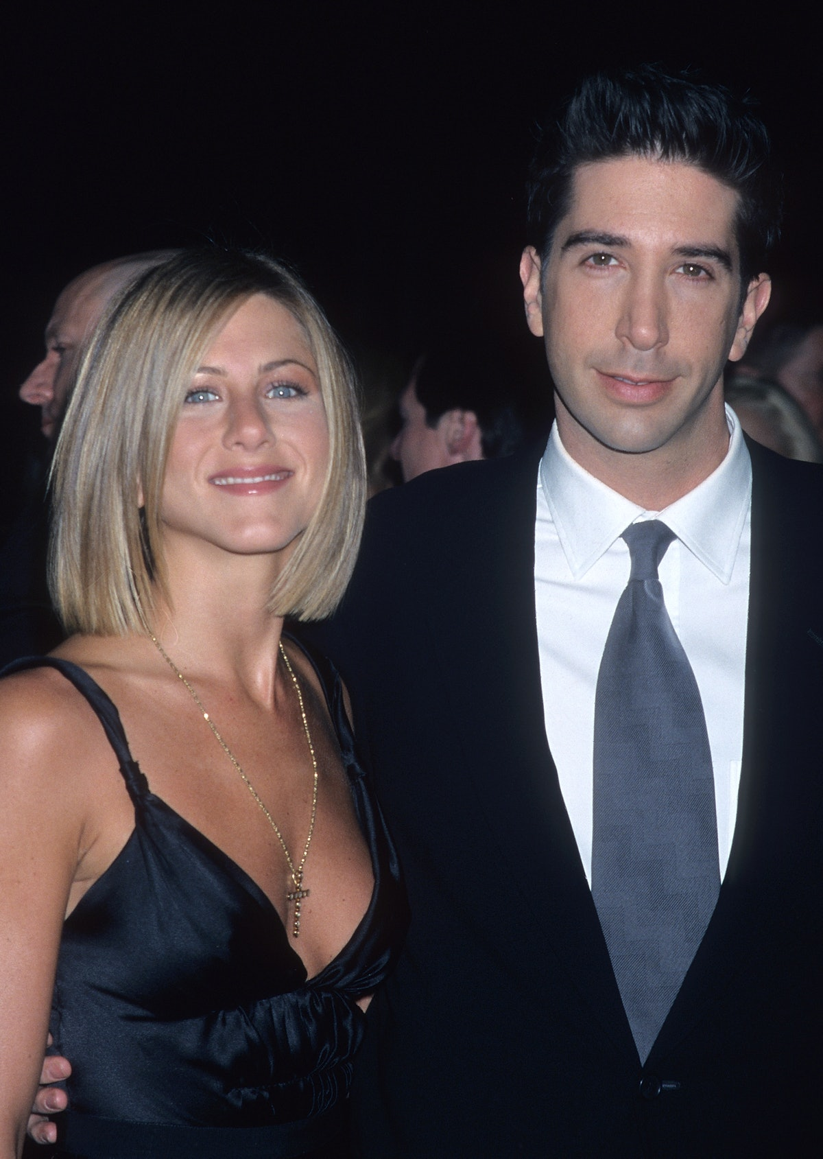 PASADENA,CA - JANUARY 7:   Actress Jennifer Aniston and actor David Schwimmer attend the 27th Annual...