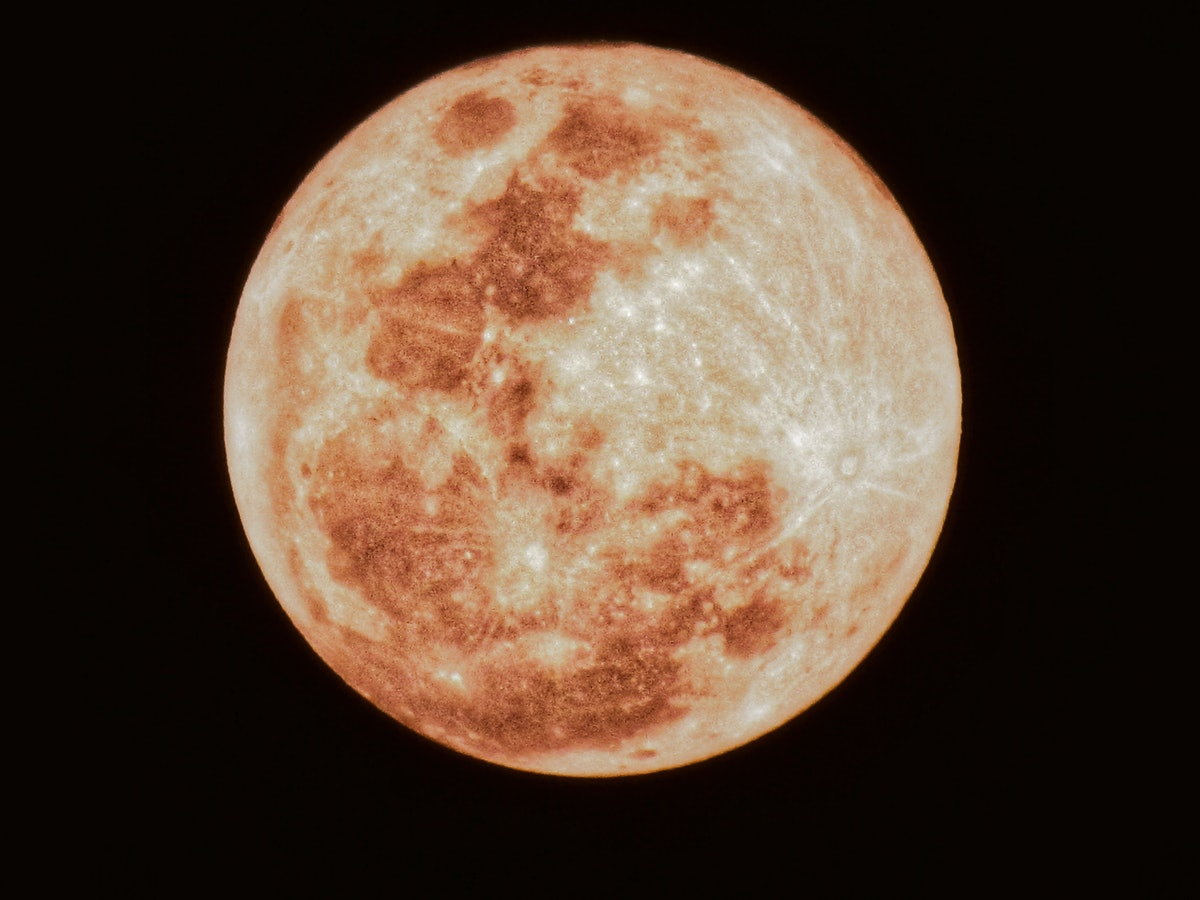 The moon on Friday the 13th 2021.