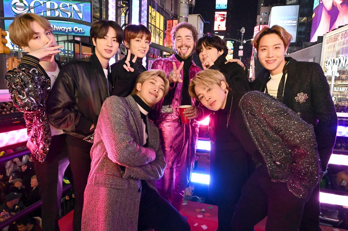 BTS and Post Malone attend Dick Clark's New Year's Rockin' Eve With Ryan Seacrest 2020.
