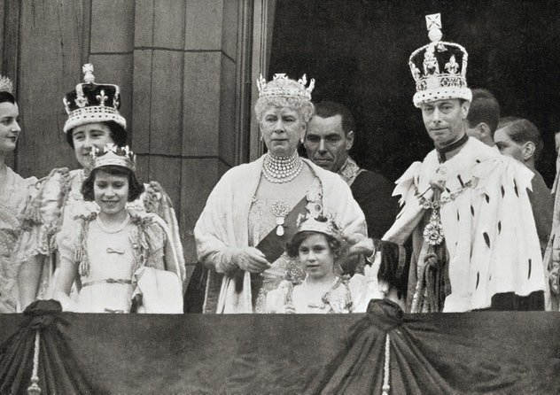 Princess Elizabeth at her father's coronation in 1937.