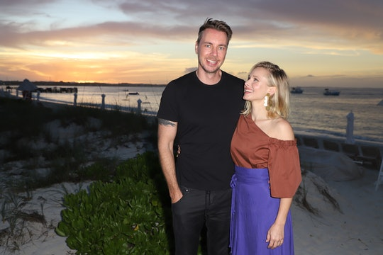PROVIDENCIALES, PROVIDENCIALES - JANUARY 30:  Dax Shepard and Kristen Bell pose as she vacations wit...