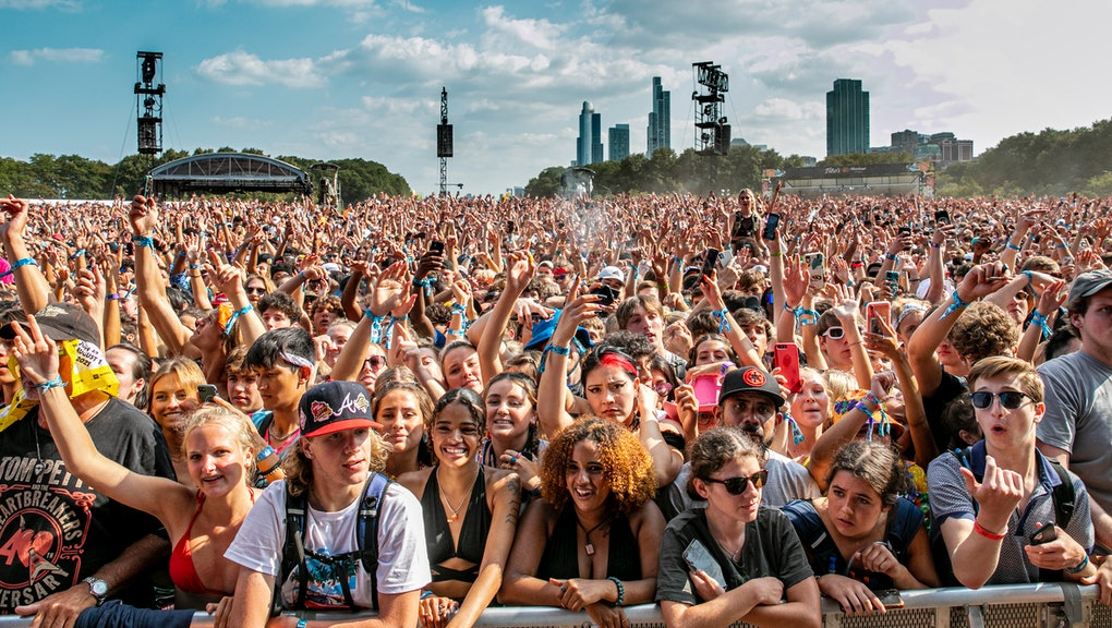 CHICAGO, ILLINOIS - JULY 31: Festival-goers attend day 3 of Lollapalooza at Grant Park on July 30, 2...