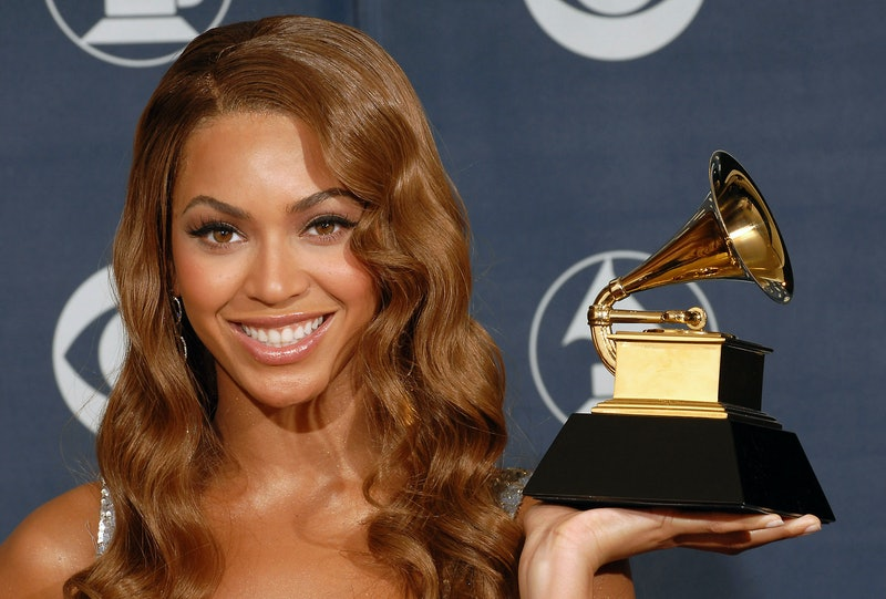 LOS ANGELES, CALIFORNIA - FEBRUARY 11:  Winner Beyoncé Knowles backstage during the 49th annual  Gra...