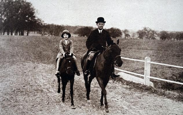 Princess Elizabeth rides her horse.