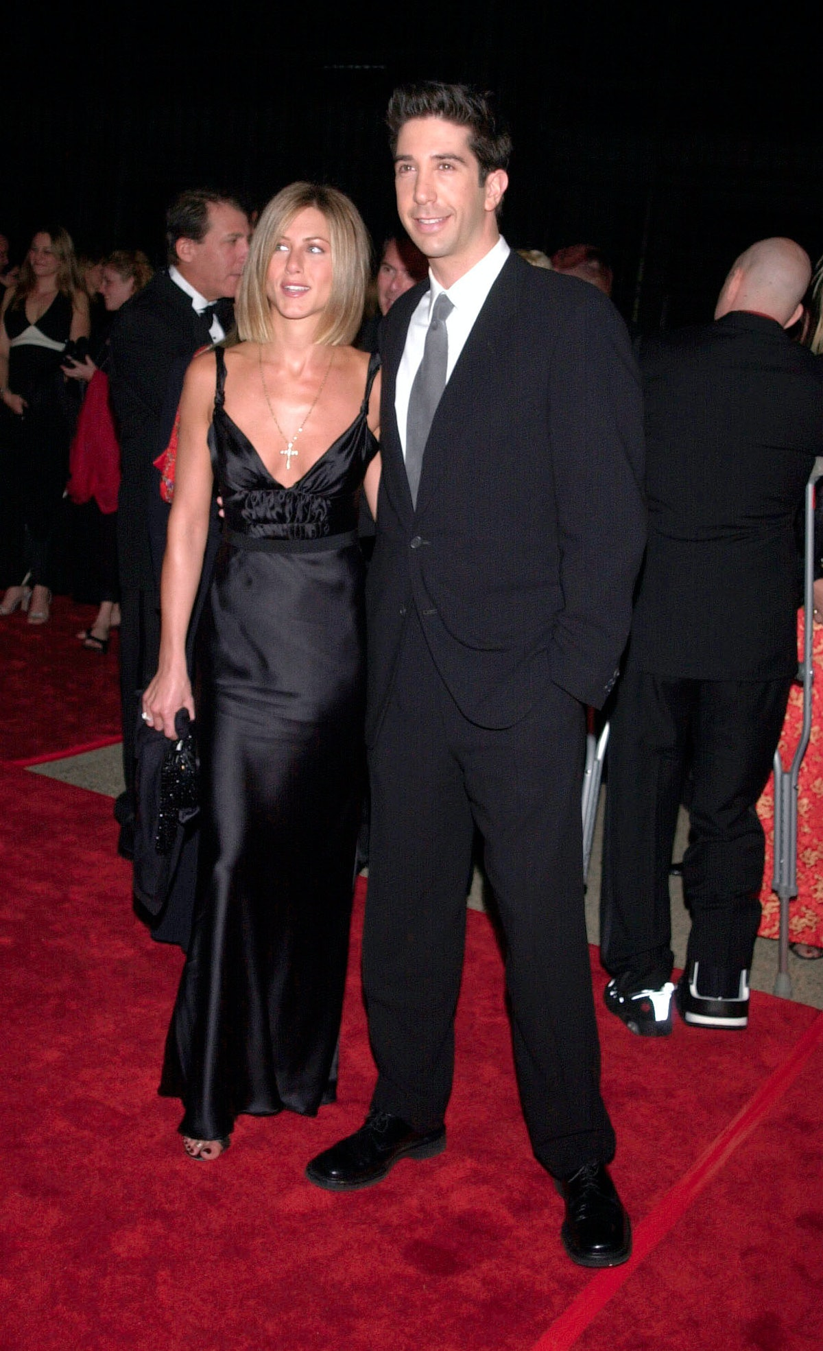 """David Schwimmer says there's """"no truth"""" to rumors that he and Jennifer Aniston are dating."""
