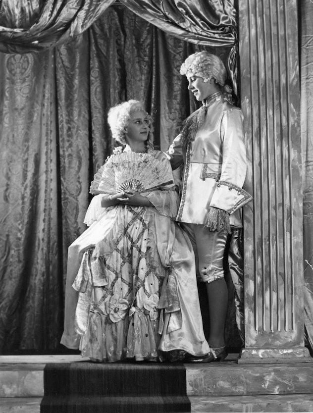 Princesses Elizabeth and Margaret put on a play.