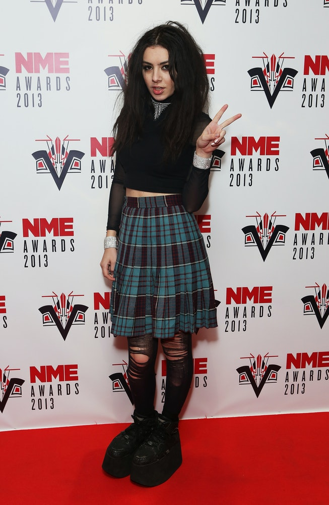 LONDON, ENGLAND - FEBRUARY 27:  Charli XCX attends the NME Awards 2013 at the Troxy on February 27, ...