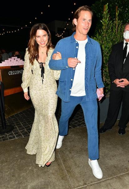 Sophia Bush and Grant Hughes in Los Angeles, California
