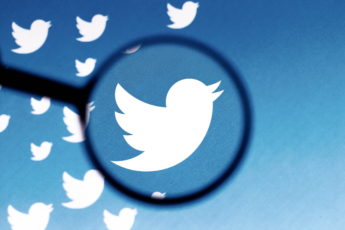 BRAZIL - 2021/06/08: In this photo illustration a Twitter logo is seen on a computer screen through ...