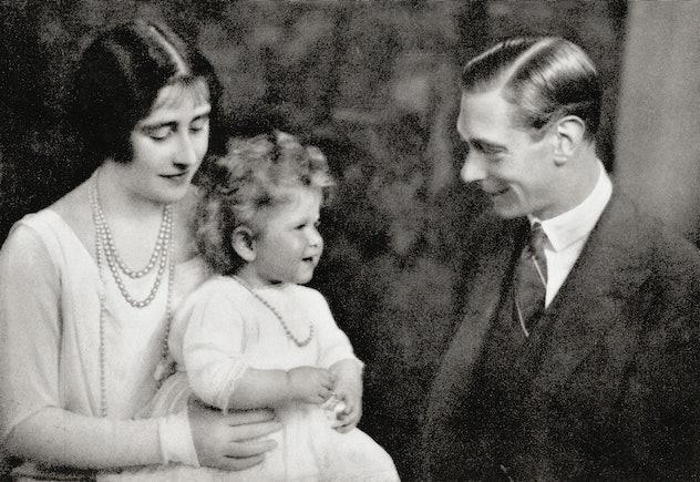 Princess Elizabeth as a baby.