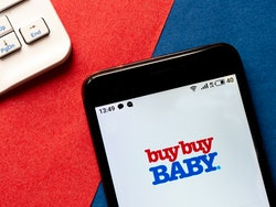 UKRAINE - 2020/05/01: In this photo illustration an e-commerce buybuy Baby logo is seen displayed on...