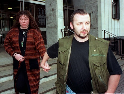Diane Stagg, whose husband Colin (right) was cleared of the killing of Rachel Nickell, leaving South...