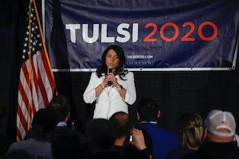 DETROIT, MI - MARCH 03:  Democratic presidential candidate U.S. Representative Tulsi Gabbard (D-HI) ...