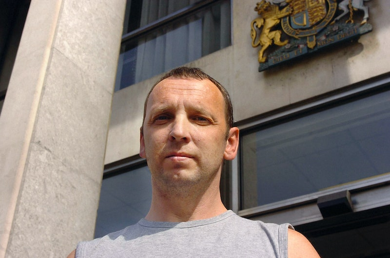 Colin Stagg, 41, from Roehampton, arrives at court. Stagg, the man cleared of murdering young mother...