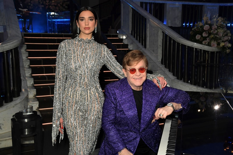 UNSPECIFIED - APRIL 25: In this image released on April 25, (L-R) Dua Lipa and Sir Elton John attend...