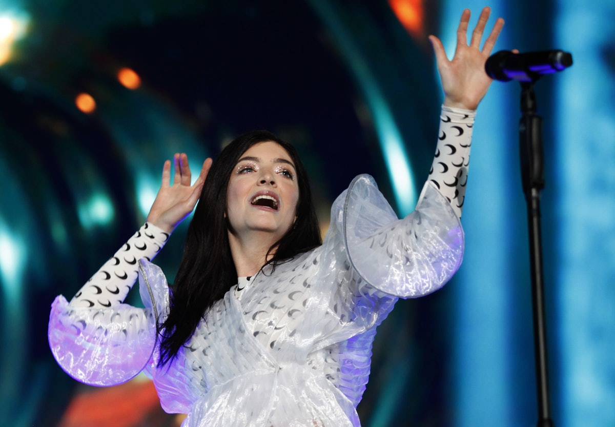 New Zealand singer, Lorde performs during her concert at the Corona Capital Music Festival in Mexico...