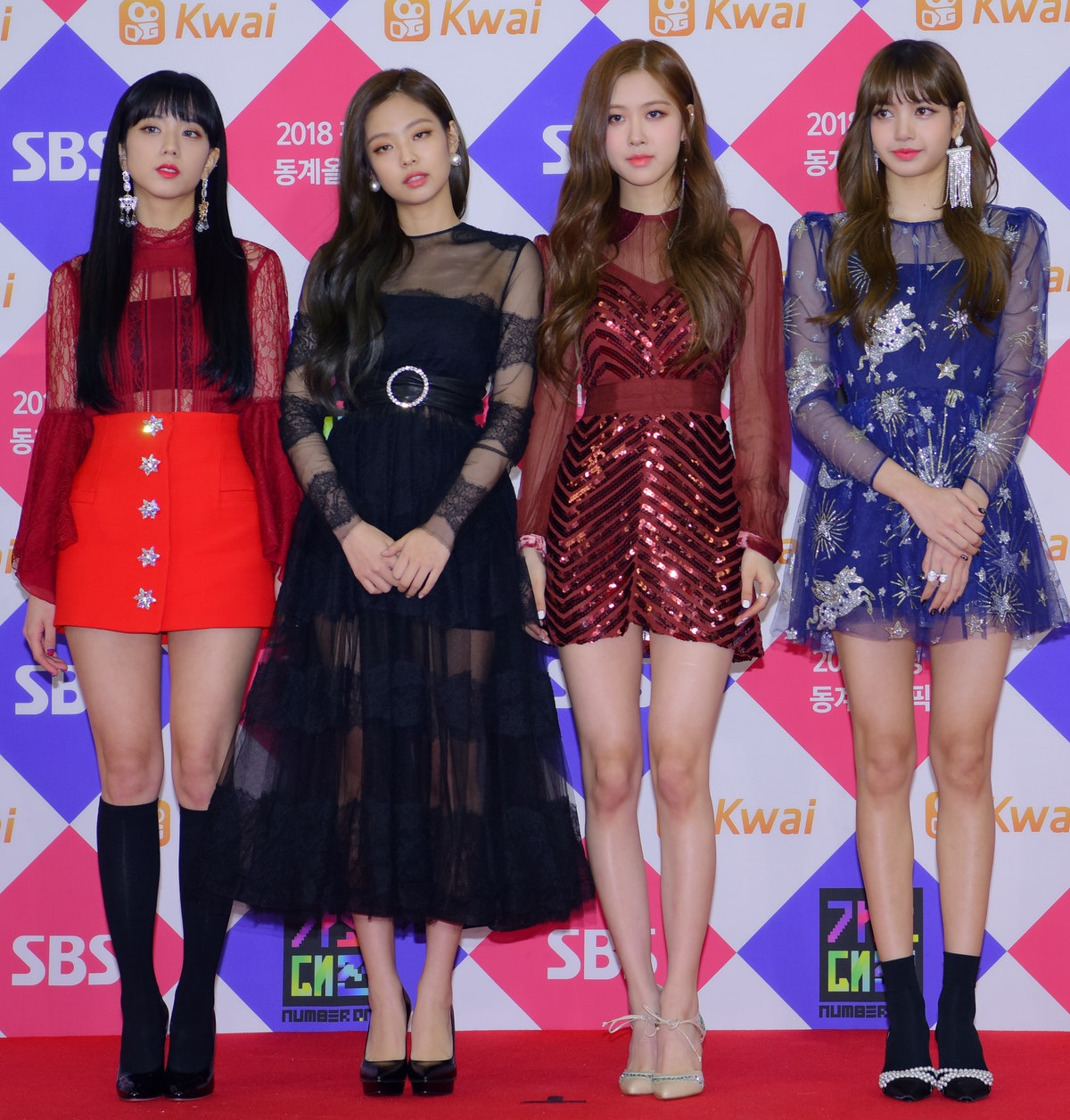 SEOUL, SOUTH KOREA - DECEMBER 25: BLACKPINK attends the 2017 SBS Gayo Daejeon 'Battle of the Bands' ...