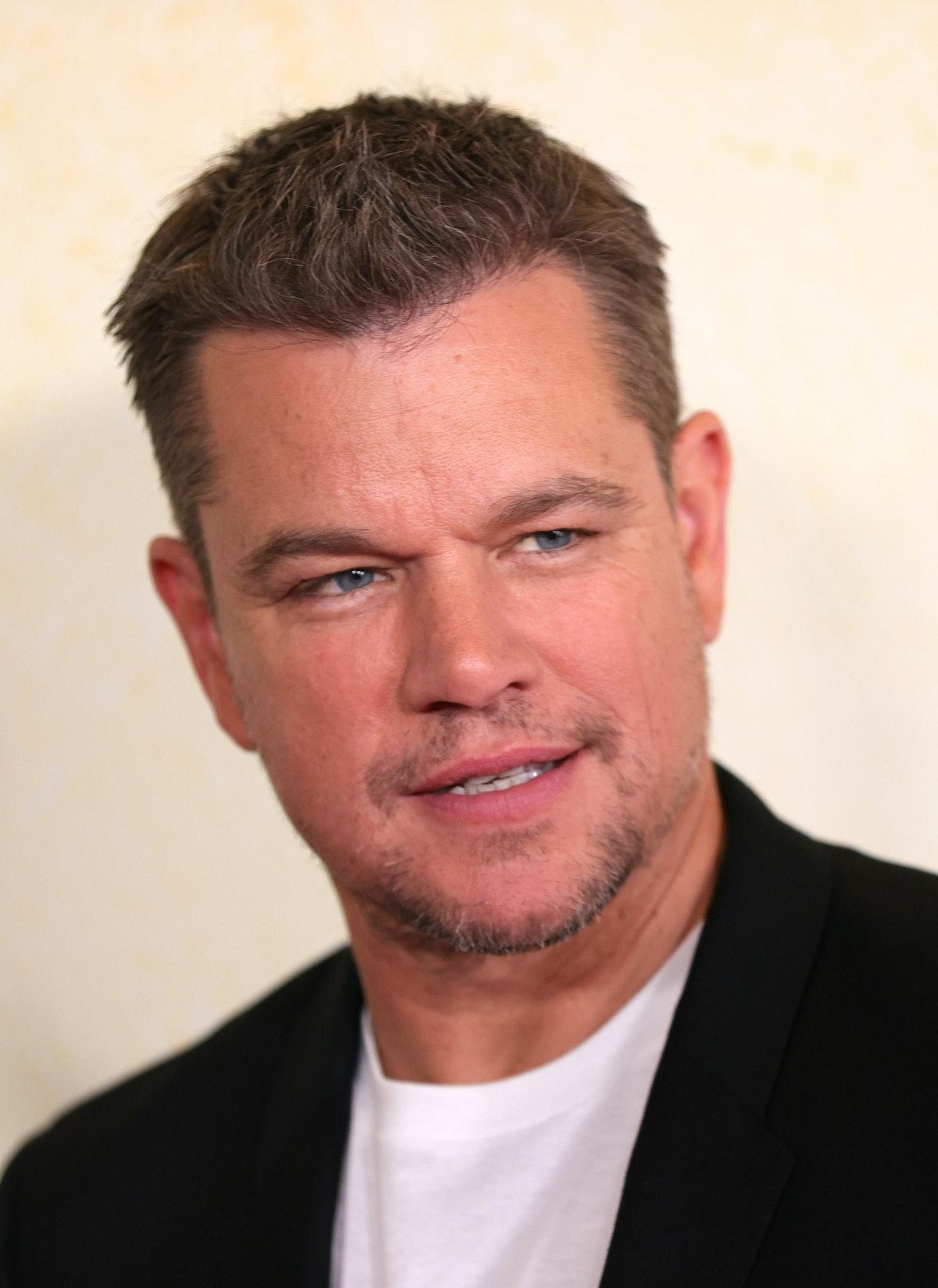 "NEW YORK, NEW YORK - JULY 26: Matt Damon attends the ""Stillwater"" New York Premiere at Rose Theater,..."