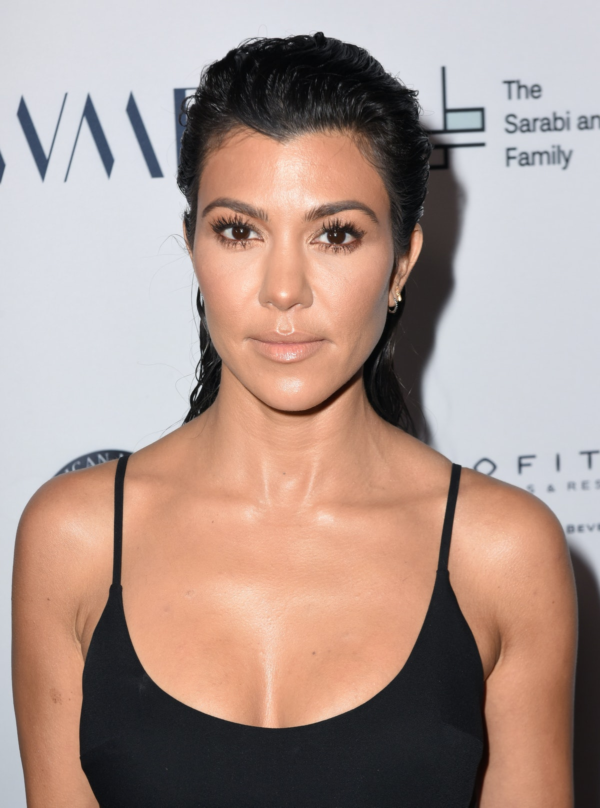 BEVERLY HILLS, CA - MAY 04:  Kourtney Kardashian attends SAMS Benefit for Syrian Refugees on May 4, ...