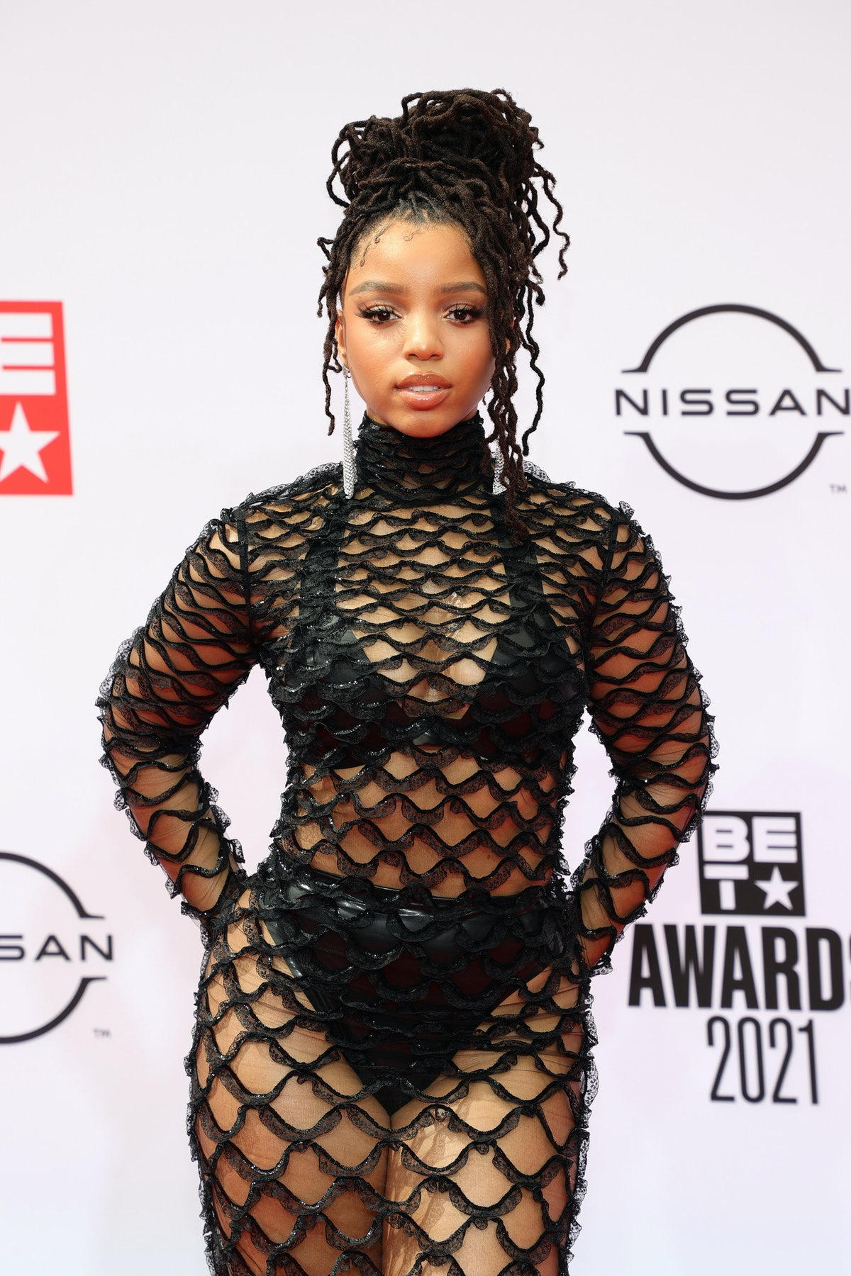 LOS ANGELES, CALIFORNIA - JUNE 27: Chloe Bailey attends the BET Awards 2021 at Microsoft Theater on ...