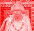 Britain's Queen Elizabeth II (L) takes her seat on the The Sovereign's Throne in the House of Lords ...