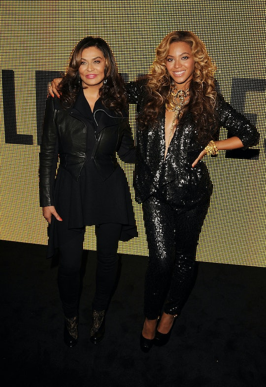 LONDON, ENGLAND - SEPTEMBER 17:  Tina Knowles and Beyonce Knowles at The Launch Of House Of Dereon B...
