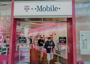 Orlando, The Mall at Millennia, T-Mobile storefront. (Photo by: Jeffrey Greenberg/Universal Images G...