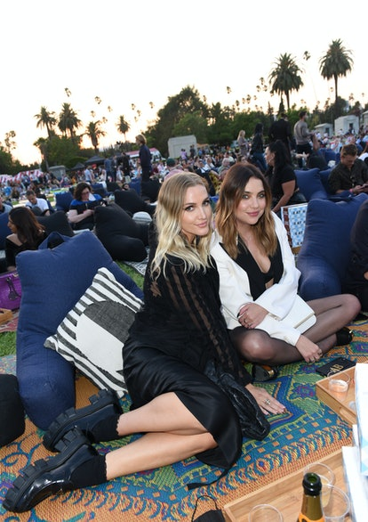 HOLLYWOOD, CALIFORNIA - AUGUST 13:  Ashlee Simpson and Ashley Benson attend Outfest Los Angeles LGBT...