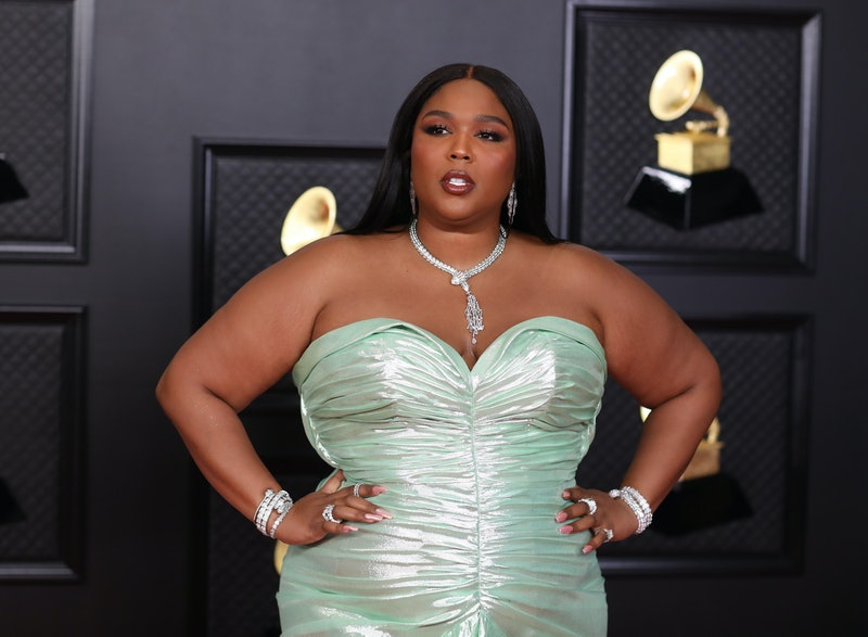 Los Angeles, CA - March 14:  Lizzo on the red carpet at the 63rd Annual Grammy Awards, at the Los An...