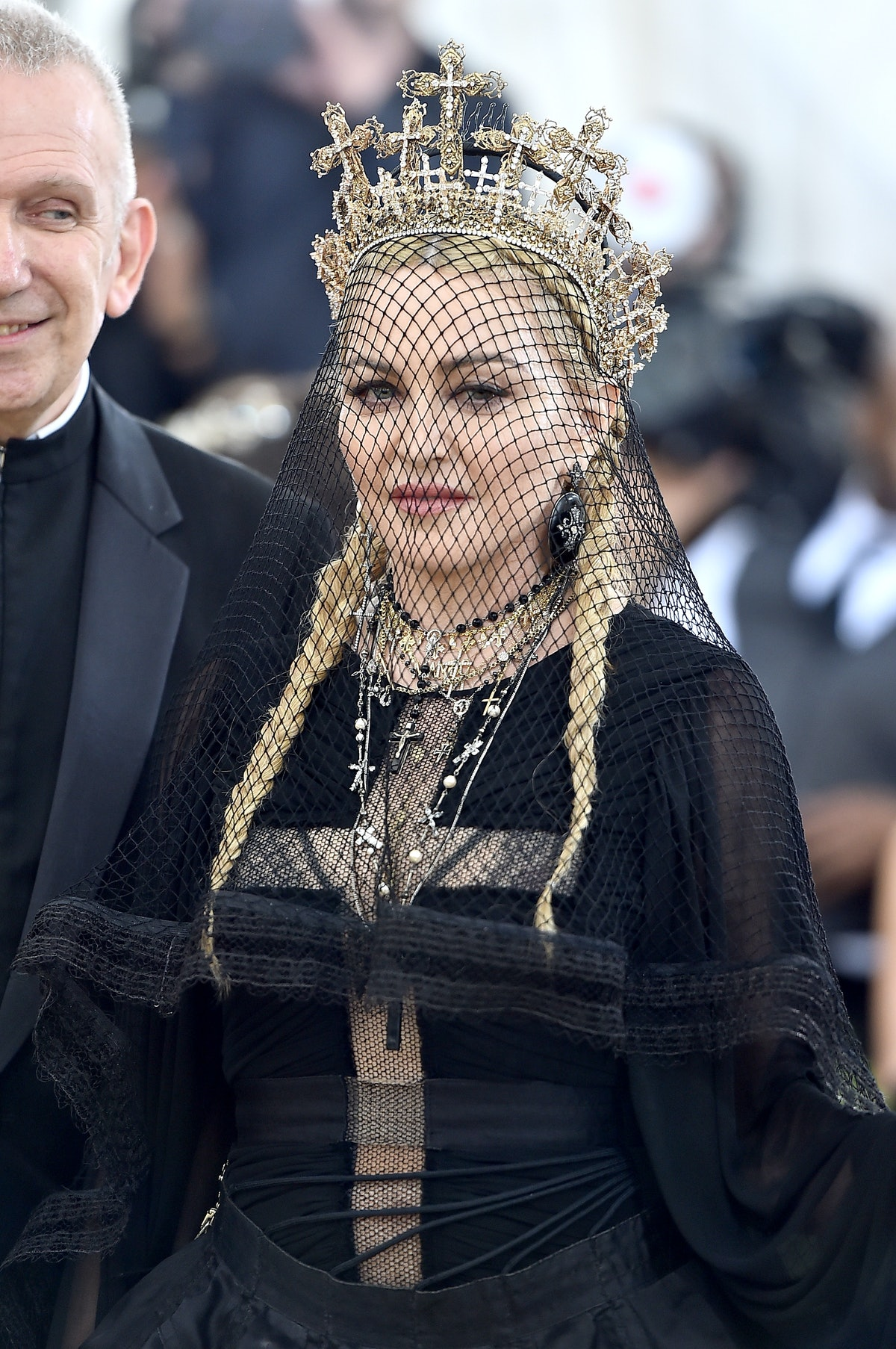 Madonna attends the Heavenly Bodies: Fashion & The Catholic Imagination Costume Institute Gala at Th...