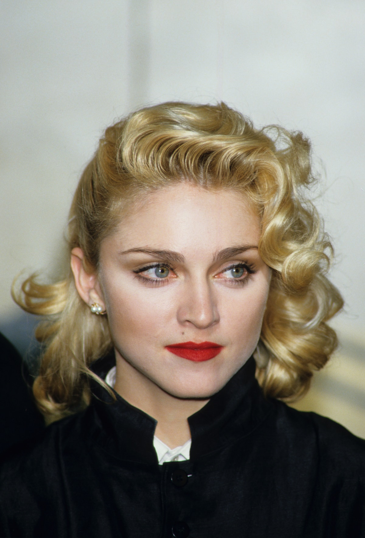 Singer Madonna holds a press Conference with former Beatle George Harrison for their film 'Shanghai ...