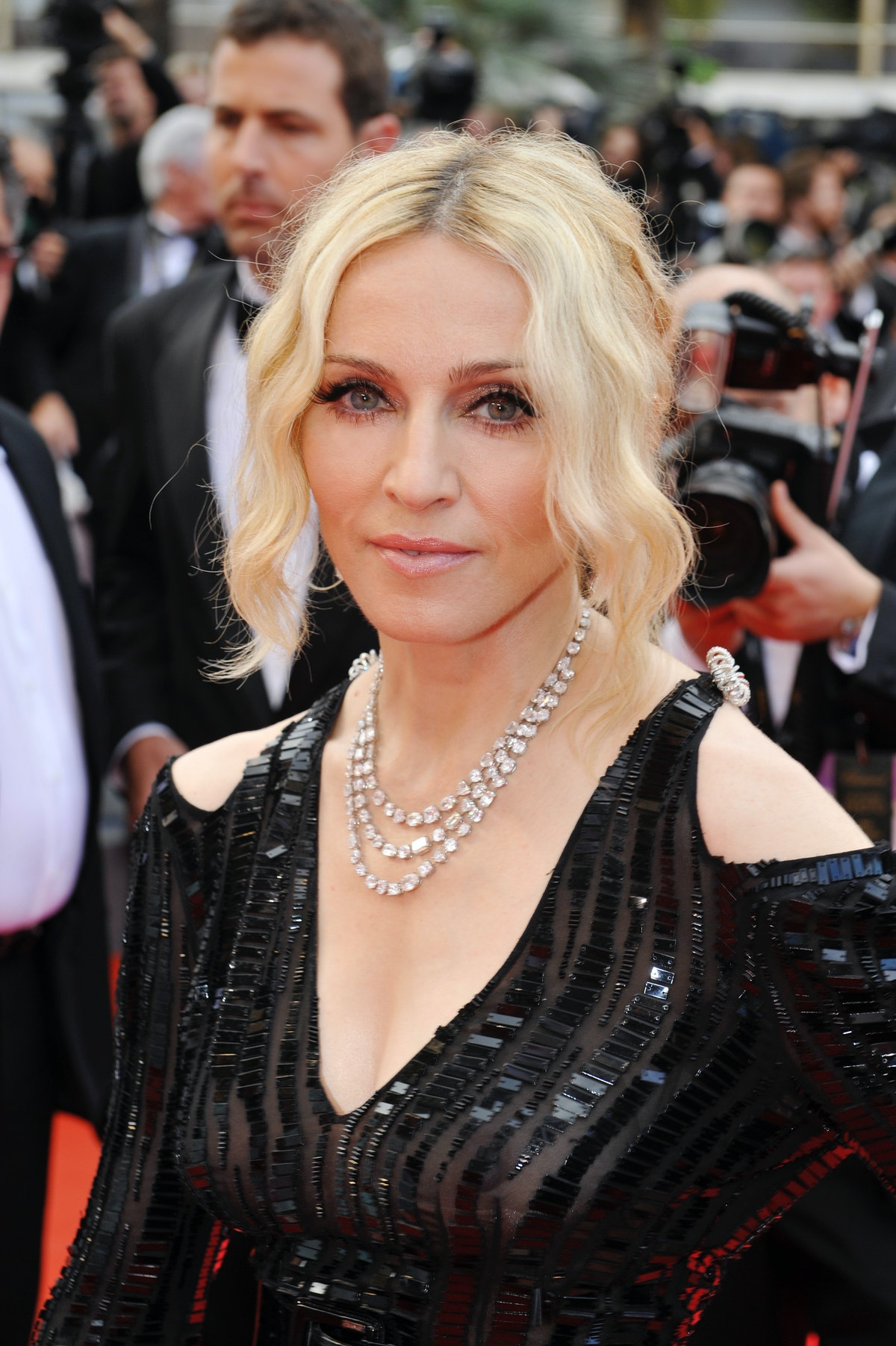 """Singer Madonna attends the premiere of """"Che"""" during the 61st Cannes Film Festival. Dress by Chanel H..."""