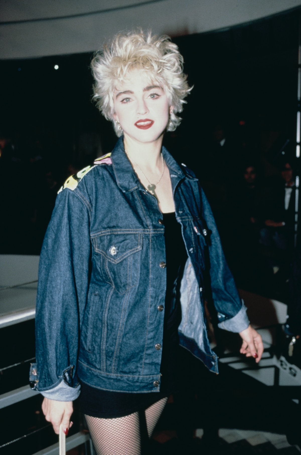American singer and actress Madonna takes part in a celebrity fashion show at Barneys clothing store...