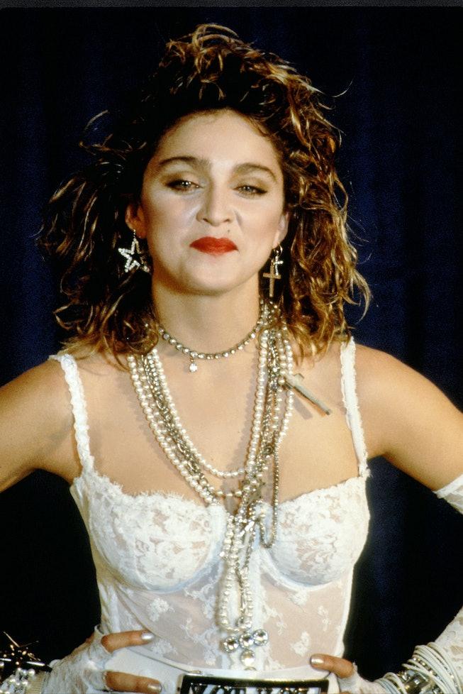 NEW YORK - SEPTEMBER 16: Madonna concert during a performance at MTV Video Awards on September 16, 1...