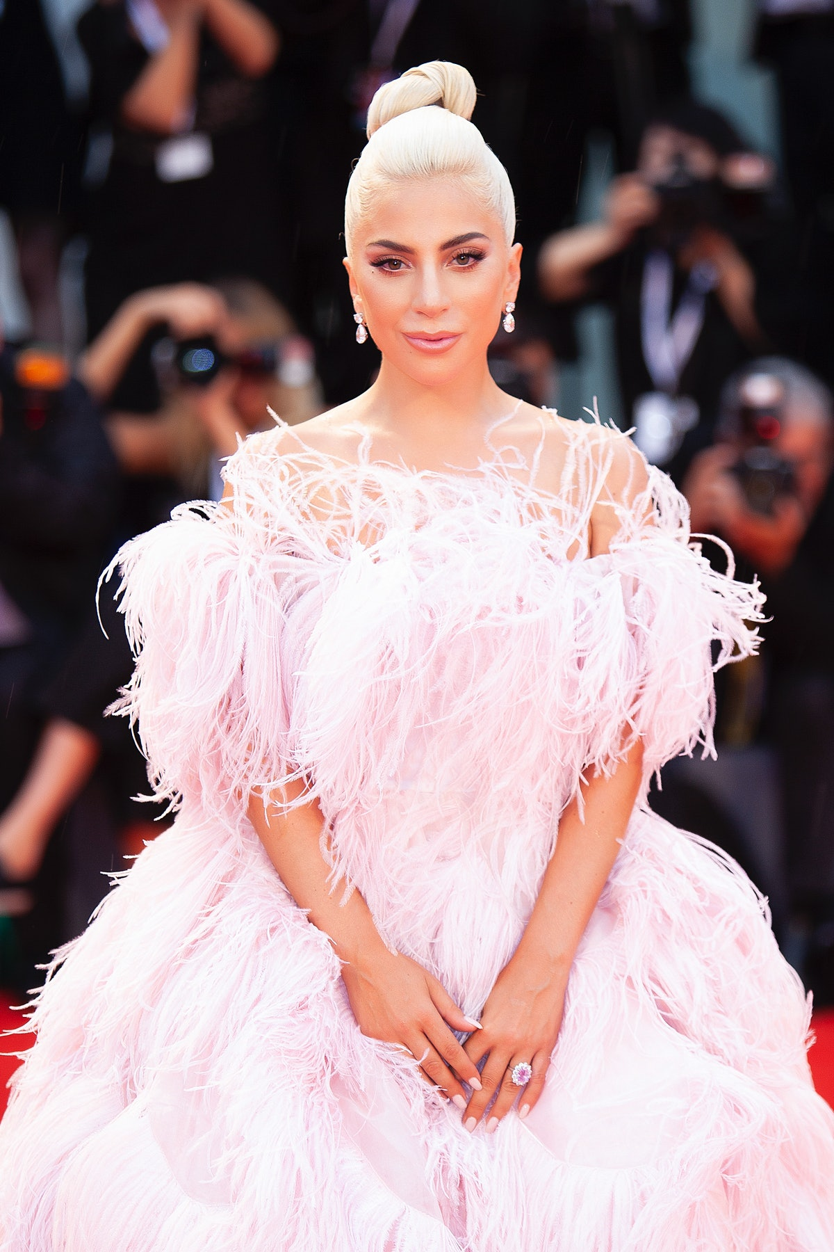 VENICE, ITALY - AUGUST 31: Lady Gaga walks the red carpet ahead of the 'A Star Is Born' screening du...