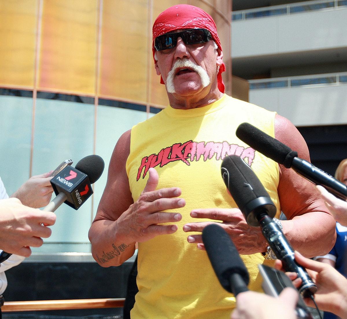 PERTH, AUSTRALIA - NOVEMBER 23: Hulk Hogan meeting children from the make a wish foundation at Bursw...
