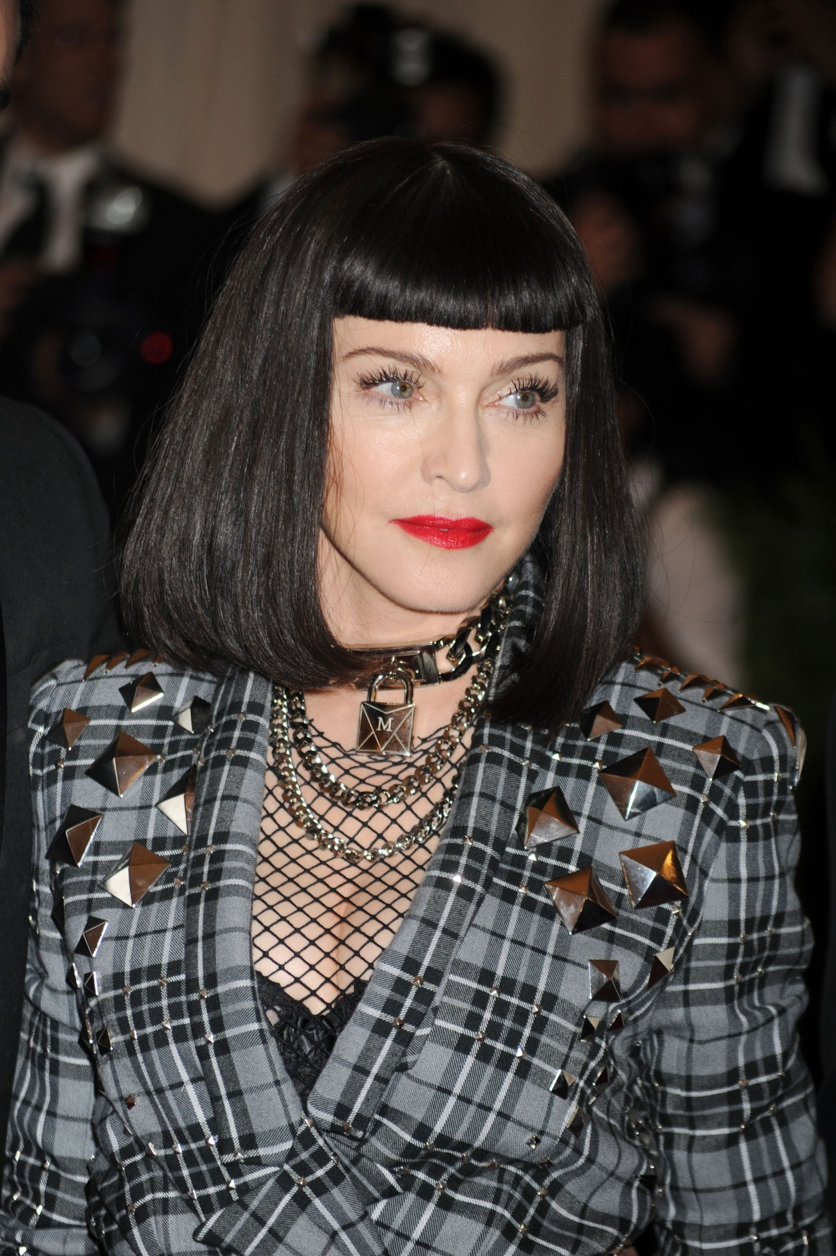 Madonna attends the 'Punk': Chaos to Couture' Costume Institute Benefit Met Gala at the Metropolitan...