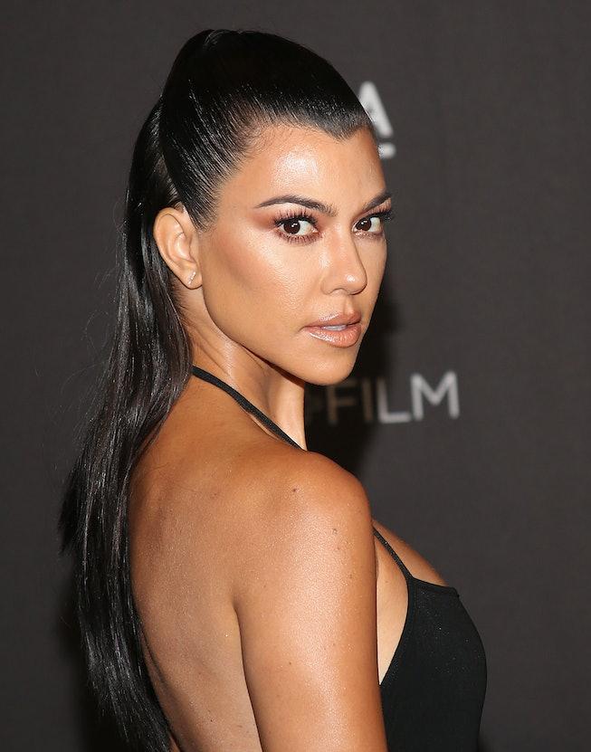 LOS ANGELES, CALIFORNIA - NOVEMBER 03: Kourtney Kardashian attends the 2018 LACMA Art + Film Gala at...