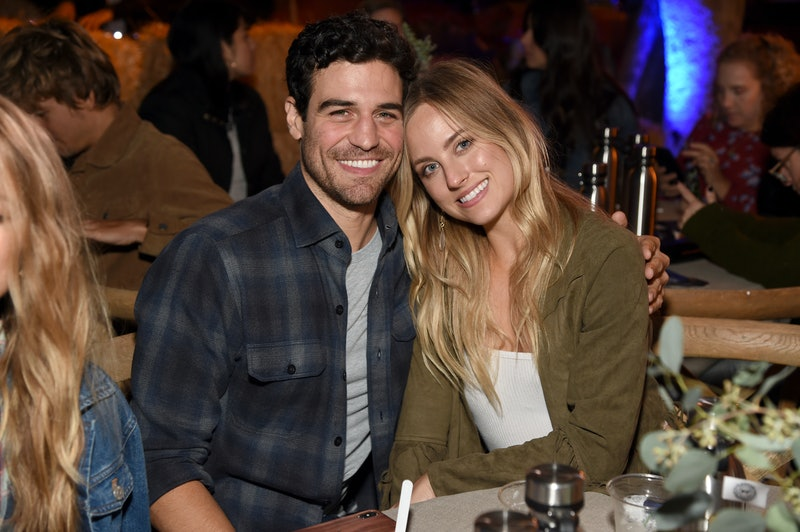 Former 'BiP' couple Joe Amabile (L) and Kendall Long attend The Gentle Barn's 20th Anniversary Celeb...